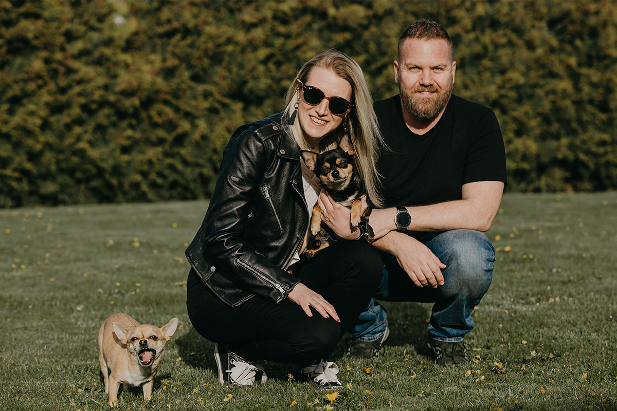 A South African and a Canadian relocating themselves, their daughter and two dogs from Malta to Estonia.